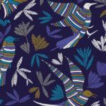 Papier Peint Ressource, Collection Forestine, Motif La Ronde des Oiseaux Variation LRD01