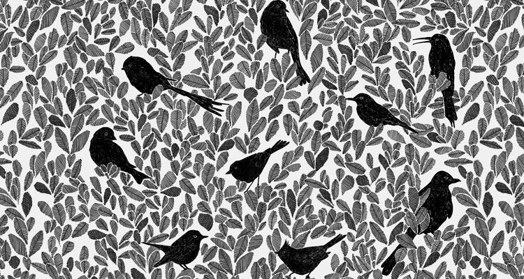 Papier Peint Ressource, Collection Forestine, Motif Paradis Caché, Variation PC02