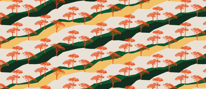 Papier Peint Ressource, Collection Forestine, Motif Sous les Pins, Variation SLP01
