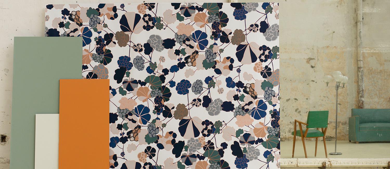 Papier Peint Ressource, Collection Forestine, Motif Florescence