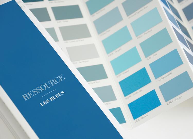Les Bleus - Nuancier accordéon, Ressource Peintures