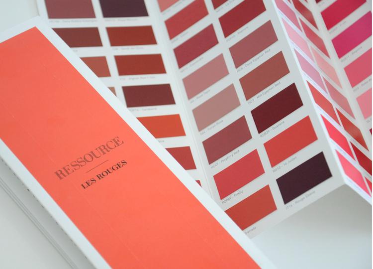 Les Rouges - Nuancier accordéon, Ressource Peintures