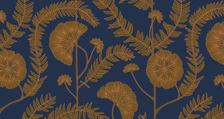 Papier Peint Ressource, Collection Faune & Flore, Motif Anna, Variation AA01