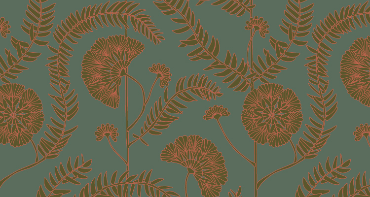 Papier Peint Ressource, Collection Faune & Flore, Motif Anna, Variation AA04