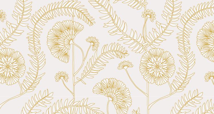 Papier Peint Ressource, Collection Faune & Flore, Motif Anna, Variation AA07