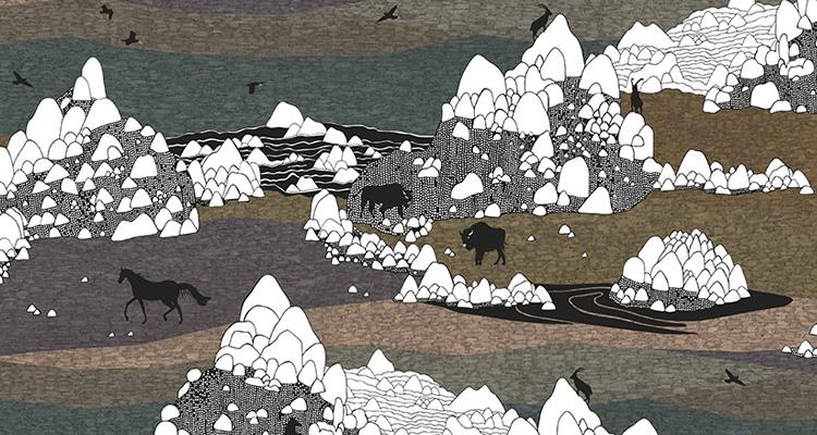 Papier Peint Ressource, Collection Faune & Flore, Motif Grands Espaces, Variation GE04
