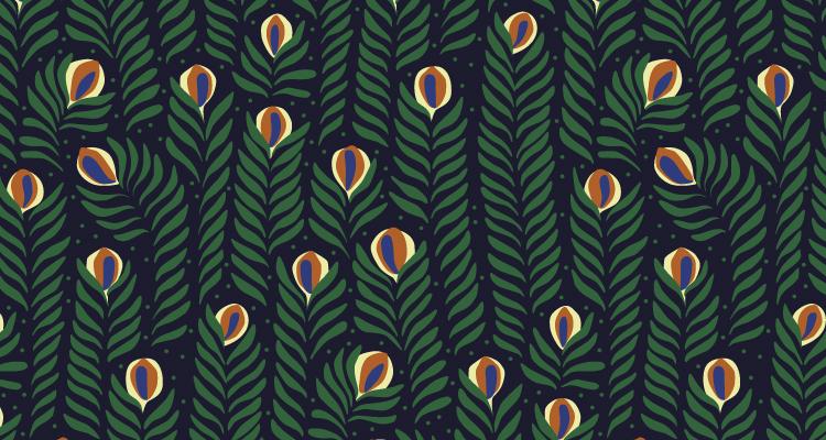 Papier Peint Ressource, Collection Faune & Flore, Motif Panache, Variation PAG01