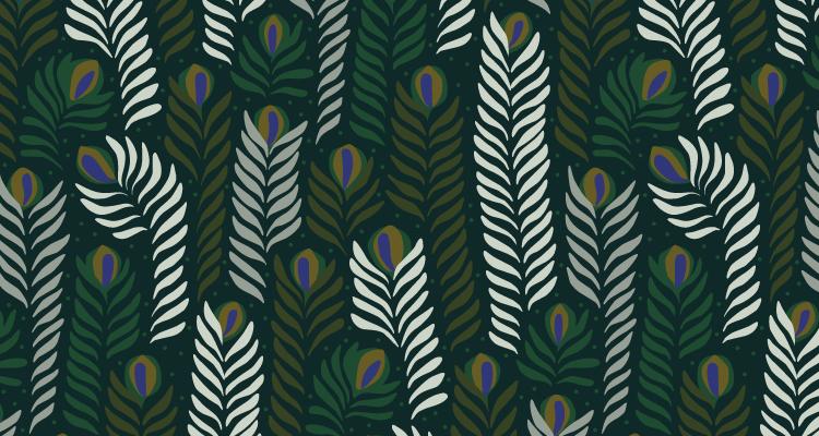 Papier Peint Ressource, Collection Faune & Flore, Motif Panache, Variation PAG02