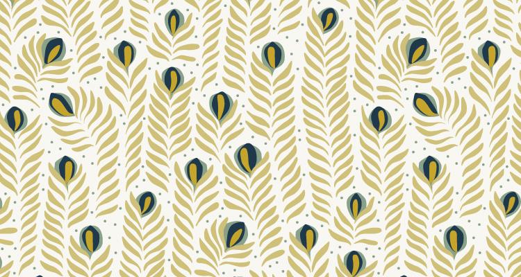 Papier Peint Ressource, Collection Faune & Flore, Motif Panache, Variation PAG05