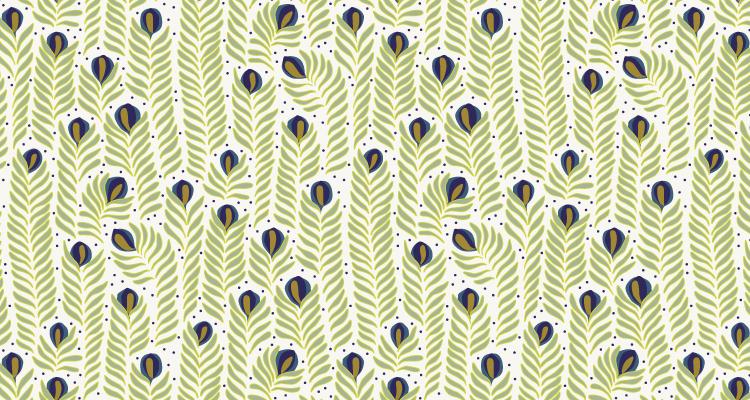 Papier Peint Ressource, Collection Faune & Flore, Motif Panache, Variation PAP06