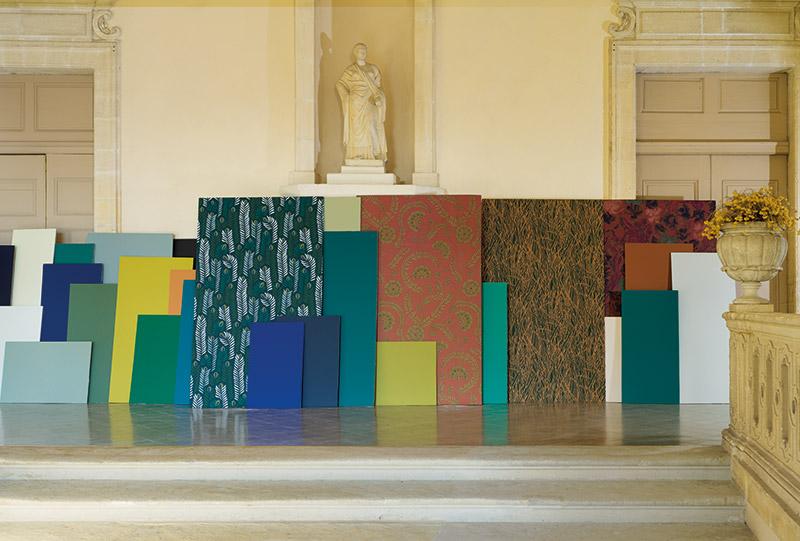Accords couleurs entre la Collection de papiers peints Faune & Flore et les collections Ressource : une infinité de possibilités !