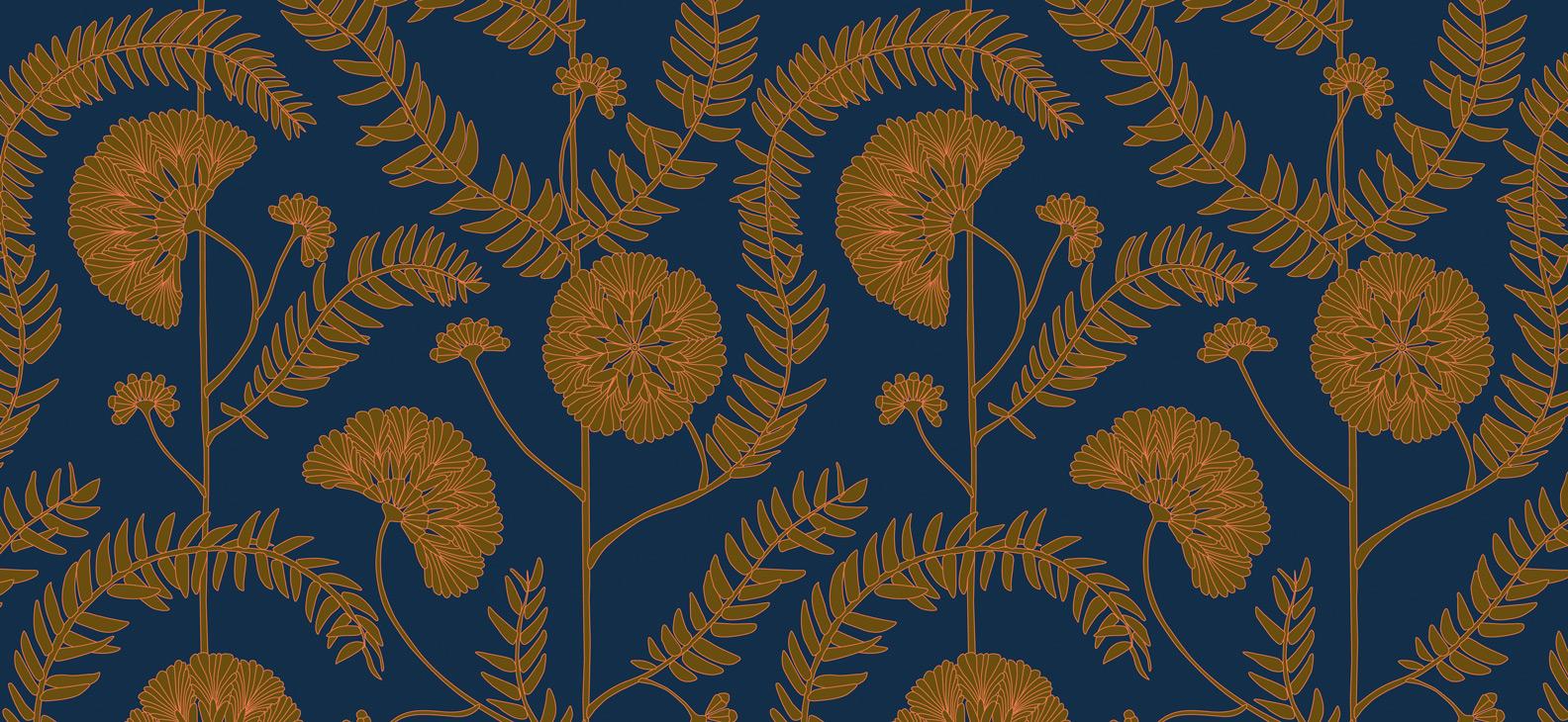 Motif Anna - AA01, Collection Faune & Flore, Papiers peints RESSOURCE