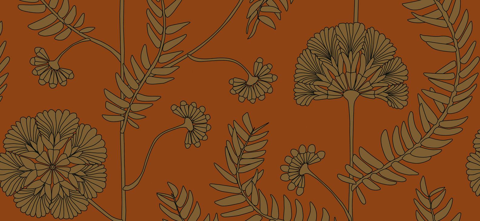 Papier Peint Ressource, Collection Faune & Flore, Motif Anna, Variation AA05