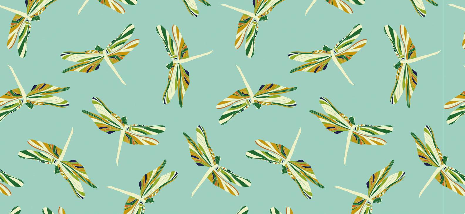 Papier Peint Ressource, Collection Faune & Flore, Motif Demoiselles, Variation D05