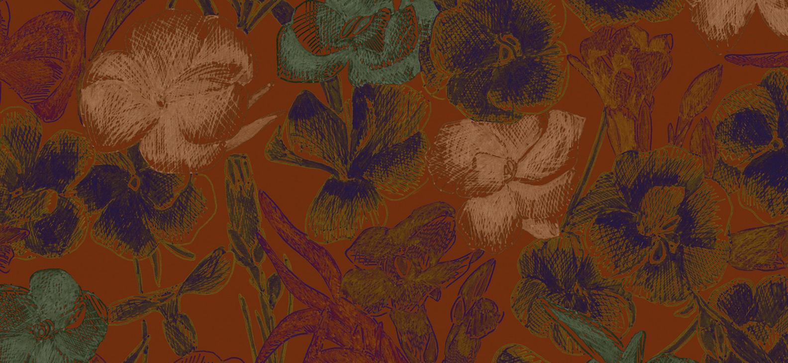 Papier Peint Ressource, Collection Faune & Flore, Motif Estampe, Variation ES06