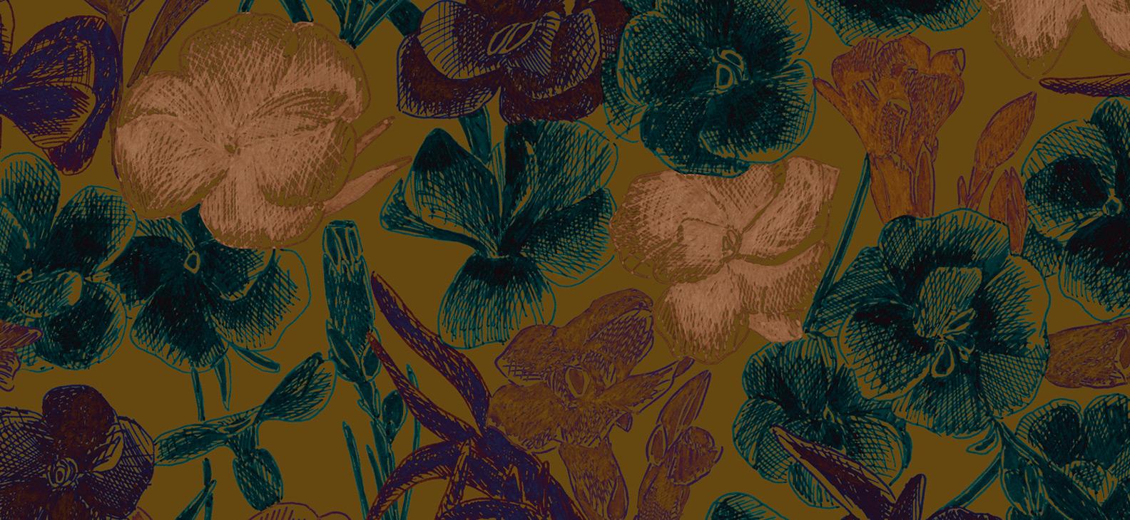 Papier Peint Ressource, Collection Faune & Flore, Motif Estampe, Variation ES07