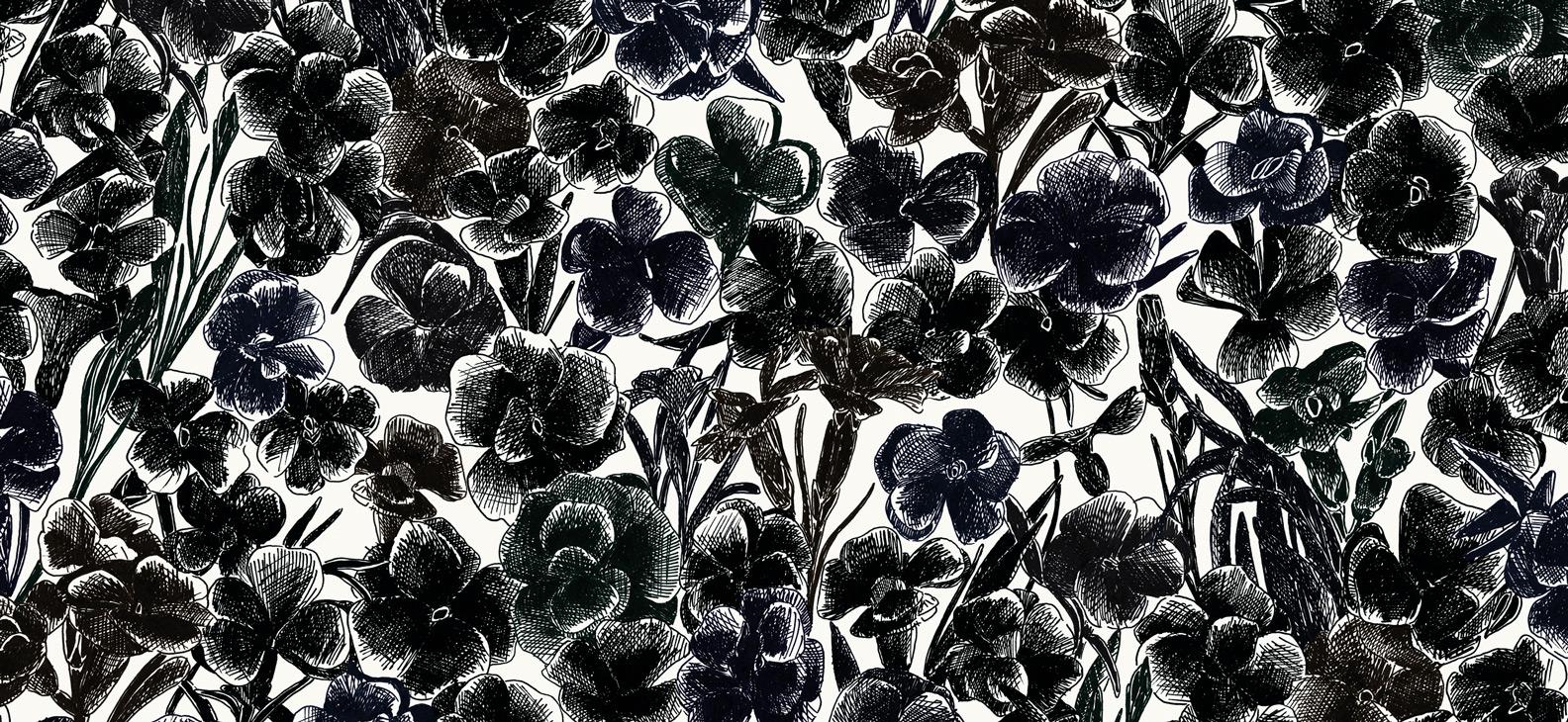 Papier Peint Ressource, Collection Faune & Flore, Motif Estampe, Variation ES08