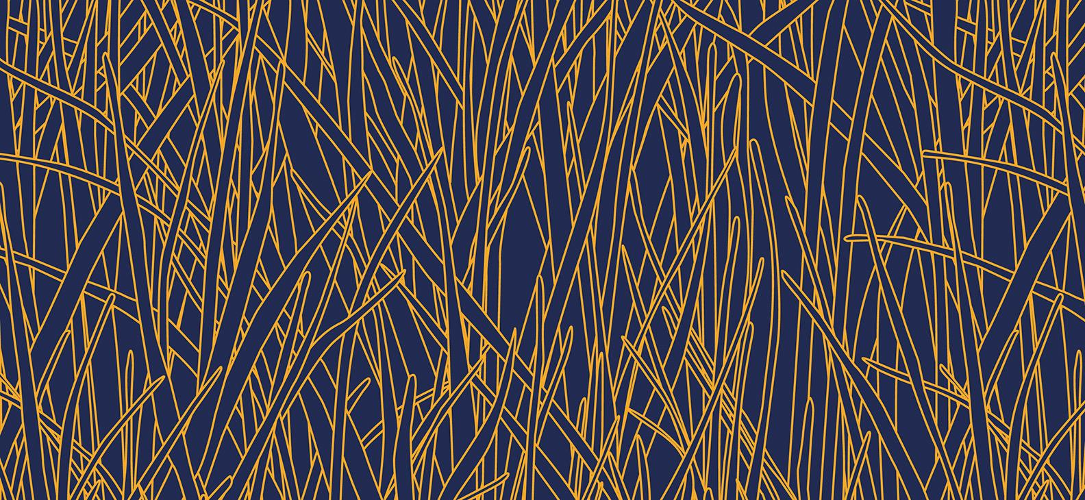 Papier Peint Ressource, Collection Faune & Flore, Motif Herbes Folles, Variation HF05