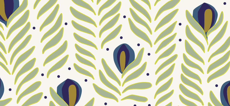 Papier Peint Ressource, Collection Faune & Flore, Motif Panache, Variation PAG06