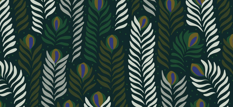 Papier Peint Ressource, Collection Faune & Flore, Motif Panache, Variation PAP02