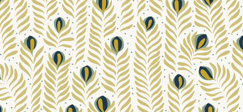 Papier Peint Ressource, Collection Faune & Flore, Motif Panache, Variation PAP05