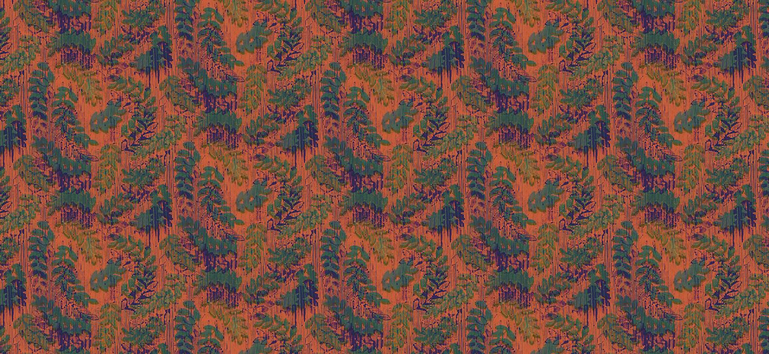 Papier Peint Ressource, Collection Faune & Flore, Motif Rameaux, Variation RP04