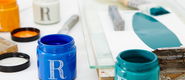 Itineraires - 4 teintes par 4 créateurs invités pour Ressource, Maison d'édition de Peintures et Papiers Peints