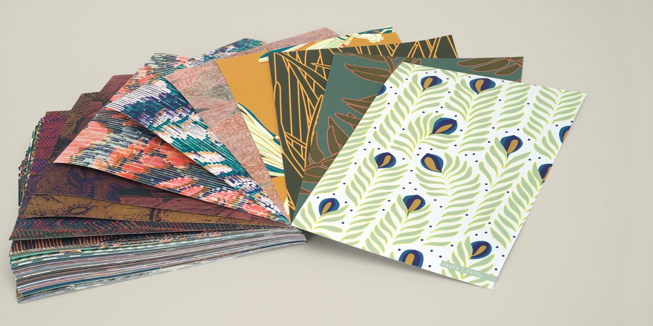 Echantillons A4 papiers peints Faune & Flore