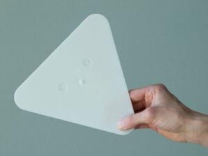 Petite spatule à maroufler, triangulaire