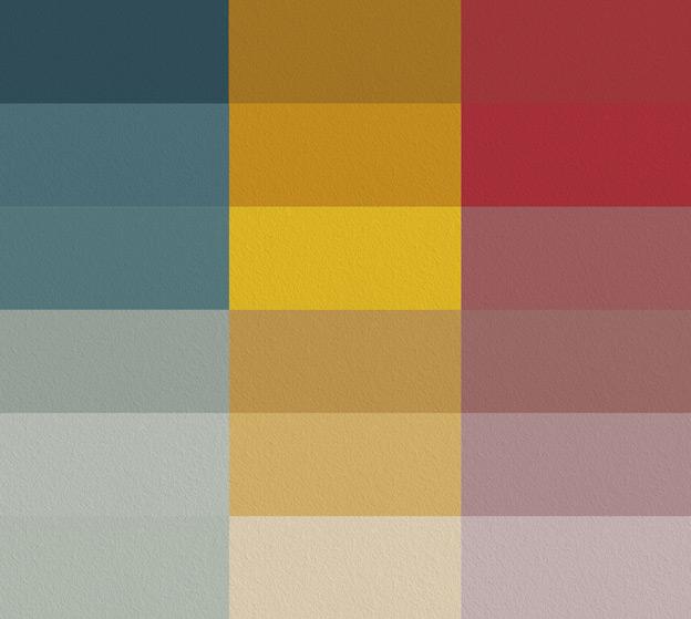 Toutes les familles de teintes Ressource Peintures